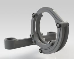 Abrazadera con mecanismo de cierre rápido / Clamping latch mechanism.