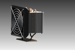 Unique CPU cooler with 12 Fans  and copper heat pipe.