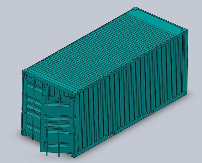 20ft Shipping Container | 3D CAD Model Library | GrabCAD