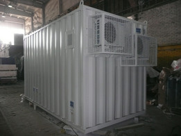 Mobile building of the server