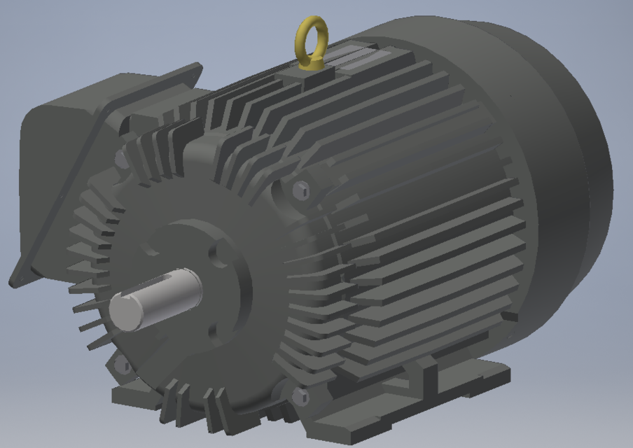 Toshiba 20hp Electric Motor Autodesk Inventor Solidworks