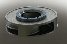 Pump impeller fi=790mm with protective ring