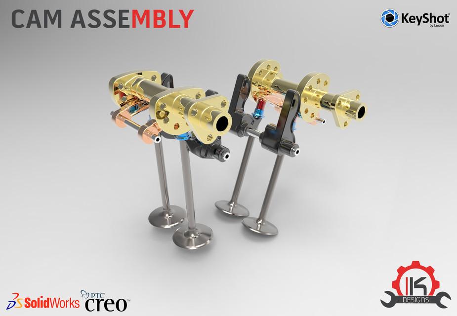 Motor Cycle Engine Internal Setup - Desmodromic Valve System