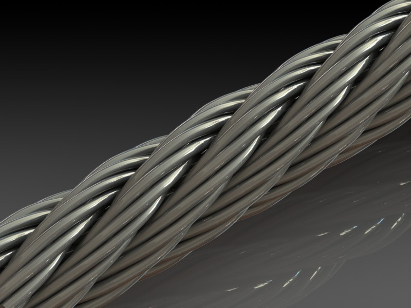 Wire Rope | 3D CAD Model Library | GrabCAD