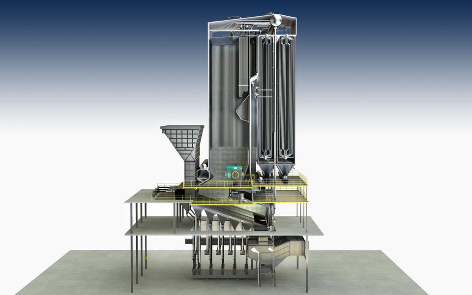 Economizer Tubes for Power Plant Boiler | 3D CAD Model Library | GrabCAD