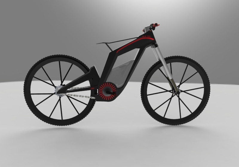 audi e bike 3d cad model library grabcad. Black Bedroom Furniture Sets. Home Design Ideas