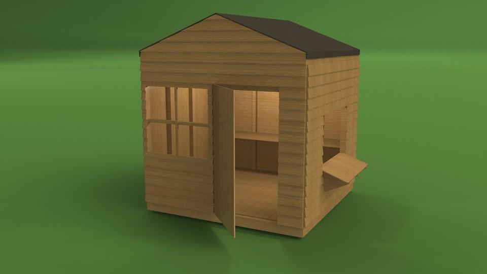 Garden Play House | 3D CAD Model Library | GrabCAD