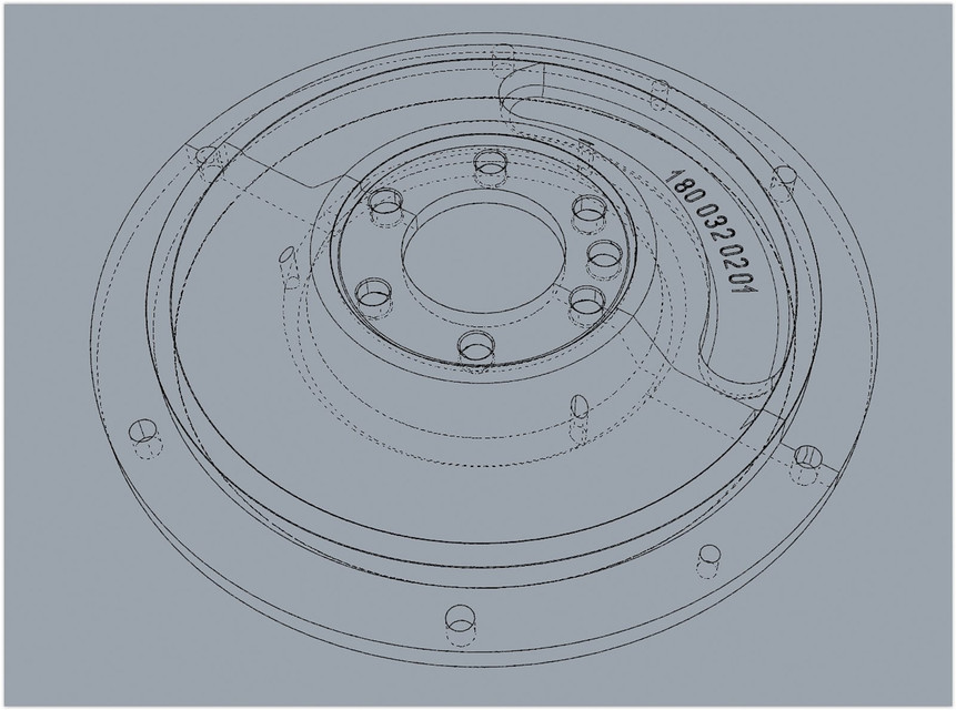 The flywheel cast iron GG25 | 3D CAD Model Library | GrabCAD