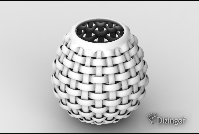 Weave Vase - Math Art by @dizingof