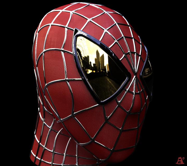 spiderman face 3d cad model library grabcad