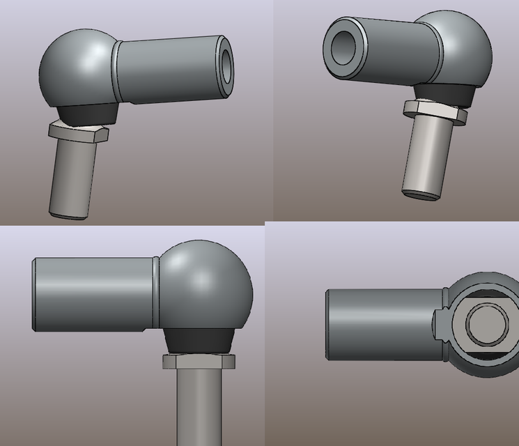 Ball And Socket Joint 3d Cad Model Library Grabcad