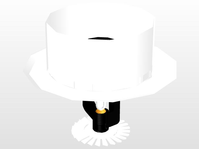 RECESSED PENDENT SPRINKLER | 3D CAD Model Library