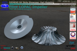 SIEMENS NX Skills Showcase - Elliot LOPAC Impeller