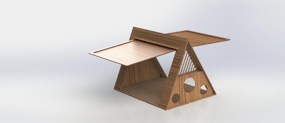 & Foldable garden wooden tent - SOLIDWORKS - 3D CAD model - GrabCAD