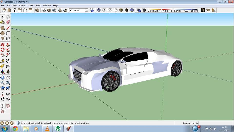 Car Outer Shell Sketchup 3d Cad Model Grabcad