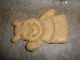 cutting of pastry - Pooh Bear