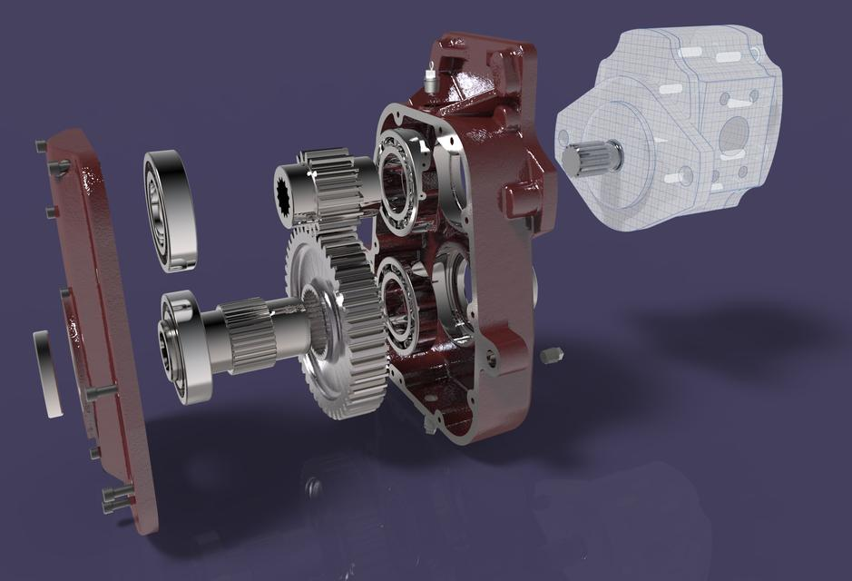 TRACTOR POWER TAKE OFF GEARBOX | 3D CAD Model Library | GrabCAD
