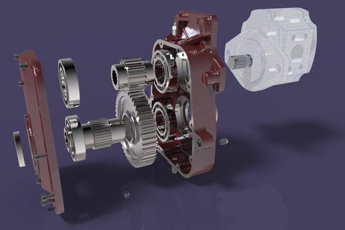 Tractor Power Take Off : Tractor power take off gearbox step iges solidworks