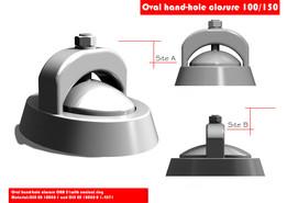 Oval hand-hole closure