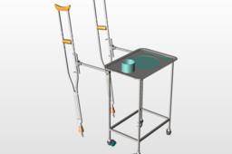 Sliding Crutch Assembly