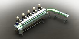 Linea transporte cajas Conveyor
