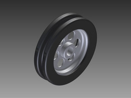Wheel For Rubber Moulded