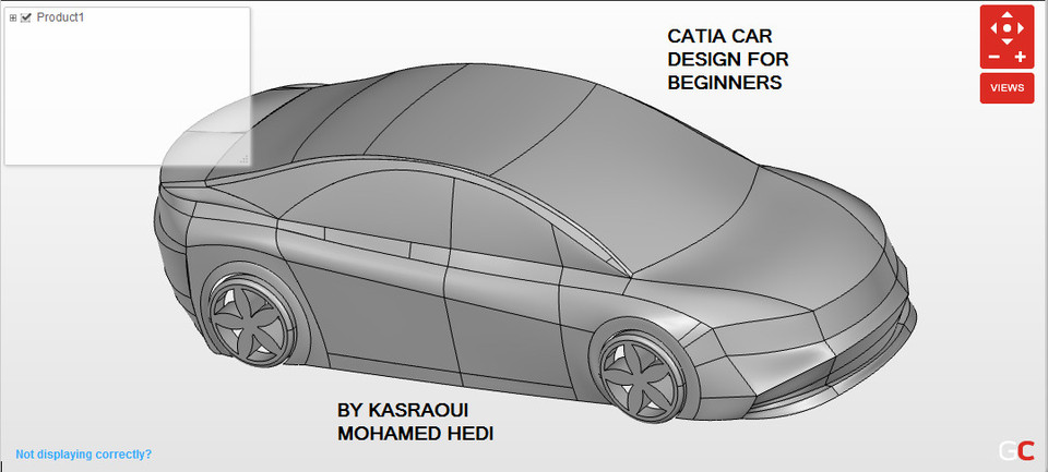 CATIA | car design for beginners | surface modeling | 3D CAD Model