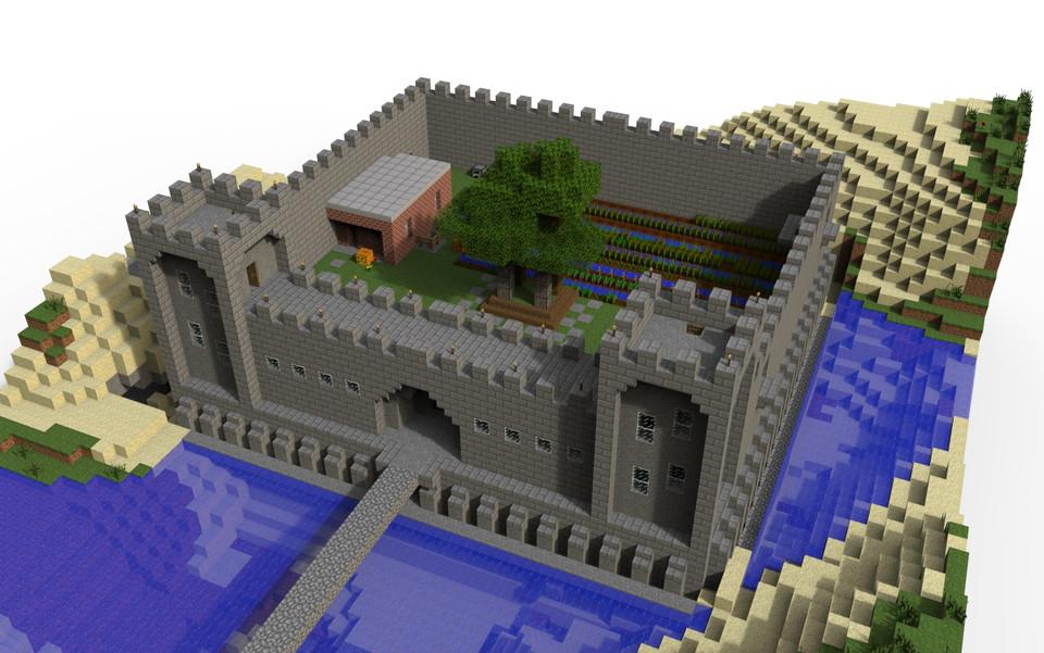 Minecraft Castle 3d Cad Model Library Grabcad