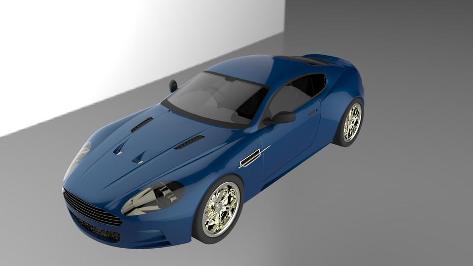 Aston Martin Db9 3d Cad Model Library Grabcad