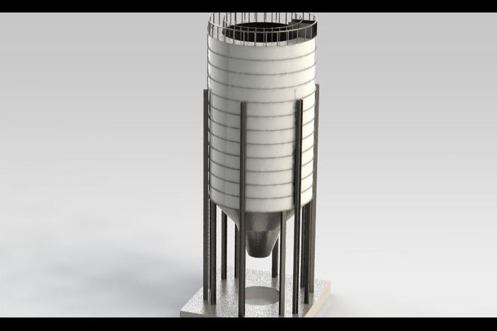 Steel Silo Drawings Steel Silo(1000 Ton