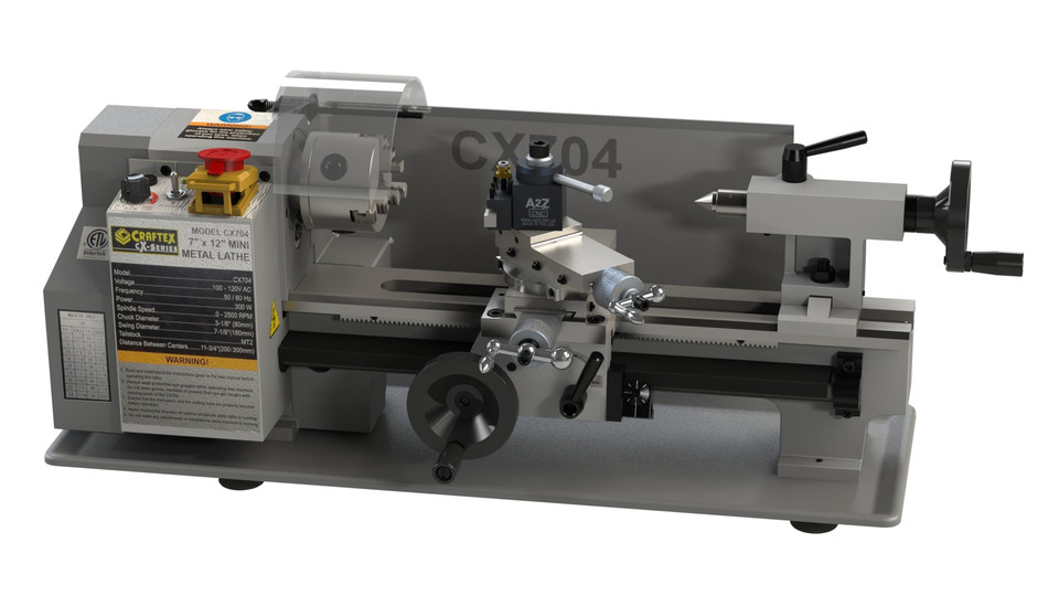 Mini Lathe CX704 | 3D CAD Model Library | GrabCAD