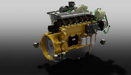 Volvo Penta engine.
