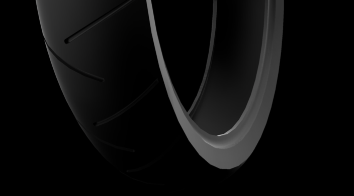 Motorcycle front tire - 120/60R17