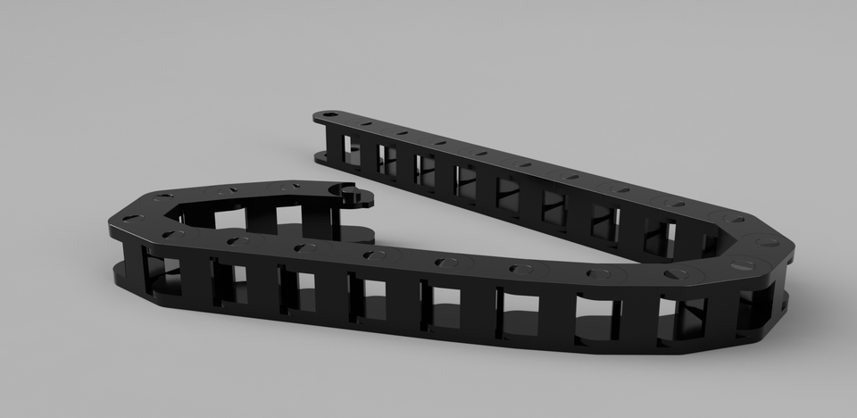 Fusion 360 Cable Drag Chain with functioning joints | 3D CAD