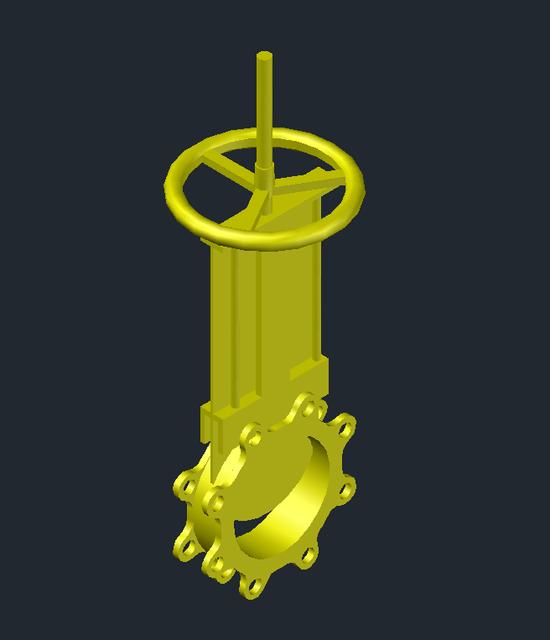 150NB knife gate valve | 3D CAD Model Library | GrabCAD