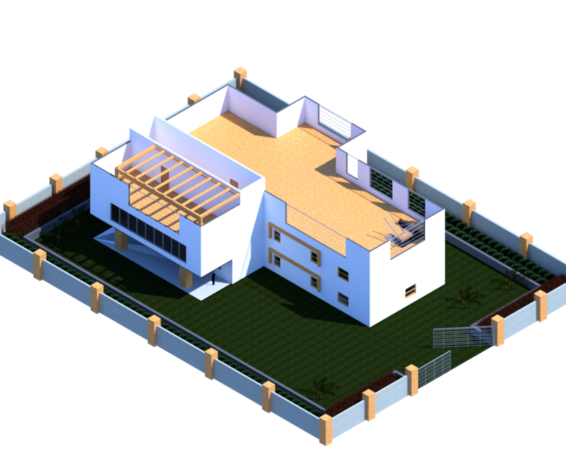 Sample House Model 3d Cad Model Library Grabcad
