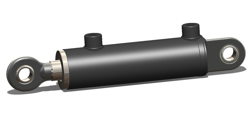 Hydraulic Cylinder Design : Double acting hydraulic cylinder d cad model library