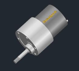 Robotpark 37mm Small Dc Motor 9V 200Rpm