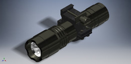 Tactical Flashlight & Mounting Ring