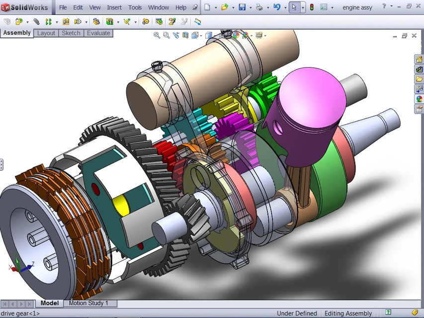 Two Stroke Engine 3d Cad Model Library Grabcad