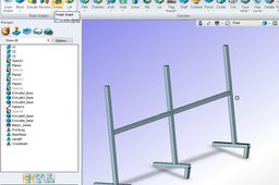 ZW3D (2012) Welded Frame Model example