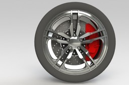Alloy Wheel, Tire and Brakes