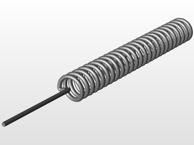433MHz Helical Spring Antenna for RA-01 LoRa Module | 3D CAD Model