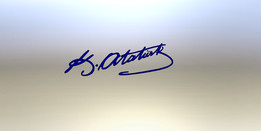Signature of Atatürk