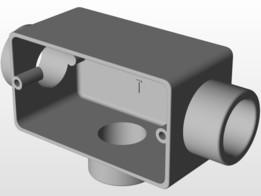 Condulete Aluminio 3/4 com Rosca Tipo T
