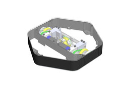 Differential wheels platform for mobile robot