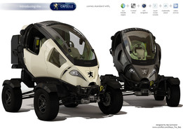 Capsule_Single seater electric vehicle idea_3d