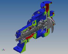 Cutaway of Centrifugal Pump Assembly