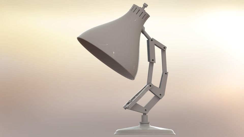 pixar lamp 3d cad model library grabcad