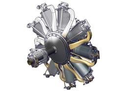 Le Rhone 9C Rotary Engine / Moteur rotatif Le Rhone 9C